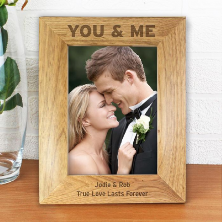 Personalised You & Me 5x7 Wooden Frame